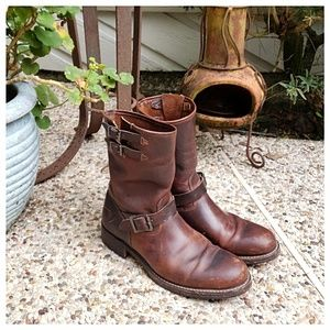 Frye Rand Leather Engineer Boots
